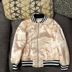 Justice Bomber Jacket Shinny Material size 8/10